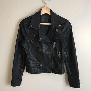 BlankNYC Vegan Faux Leather Moto Jacket